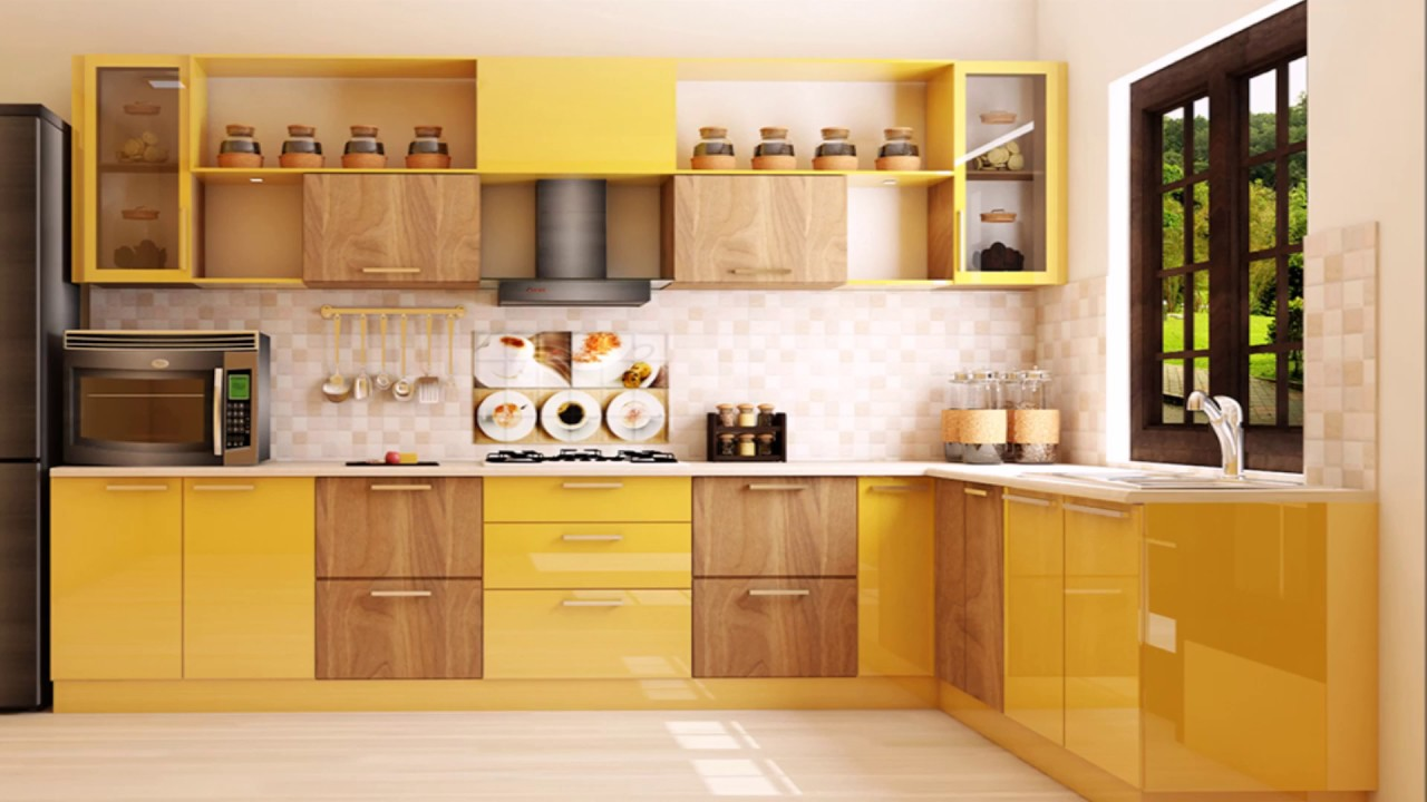 L - Shaped Modular Kitchen Designs & Layouts by Scale Inch - YouTube