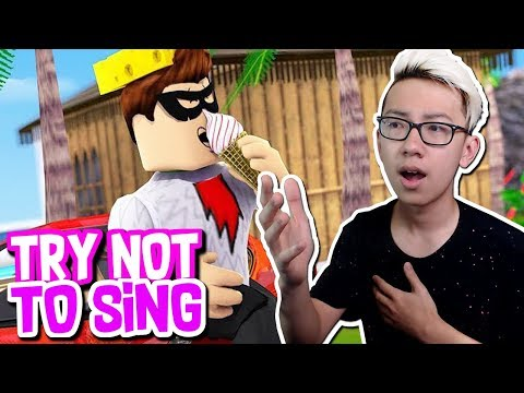 TRY NOT TO SING CHALLENGE IN ROBLOX!! (Roblox Music Videos)