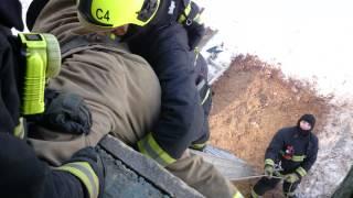 Спасение пострадавшего (пожарного) с помощью л3к
