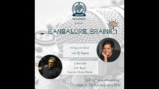 RJ Sapna chats with Ravi C A | AIR Rainbow FM 101.3