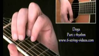 How to Play the Acoustic Introduction to Dogs Pink Floyd
