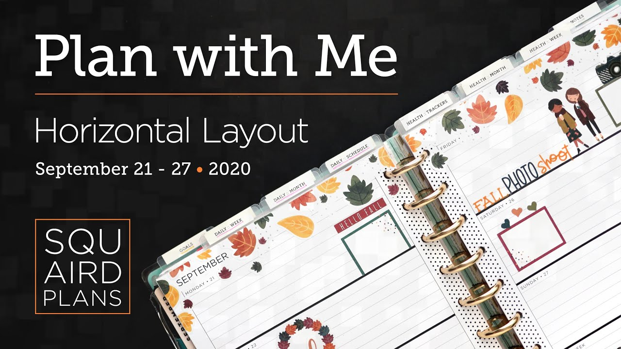 Plan with Me :: It's Fall Y'all! :: Squaird Plans Horizontal Layout :: Classic Happy Planner :: 2020