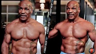 MIKE TYSON SHOWS OFF JACKED PHYSIQUE AHEAD OF ROY JONES JR FIGHT (TYSON LOOKS RIPPED!)