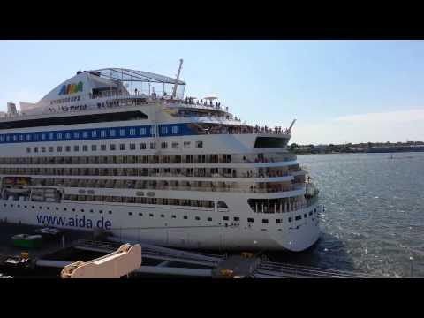 Leaving the port of Tallinn, Estonia for Copenhagen, Denmark.