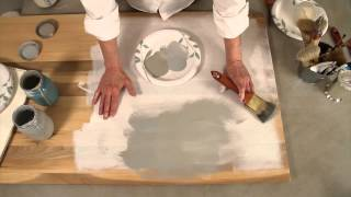 STEPS 2 and 3: Layering Technique for Chalk Paint Colors on Wood