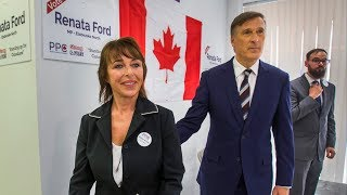 FORD NATION HAT TRICK?: PPC leader Maxime Bernier visits Renata Ford's campaign office