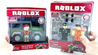 Roblox Toys Series 2 Unboxing -- 🤖 Apocalypse Rise and 🚔👮 Prison Life