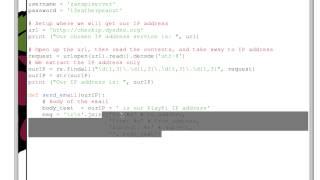 Raspberry Pi Tutorial 10 - How to email external IP address to self via Python