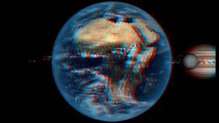 Anaglyph: Solar system 3D CG animation