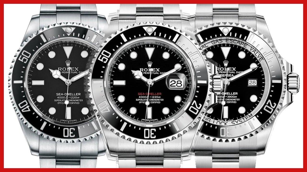 cb6eb9766ec Rolex Sea-Dweller 40mm VS Sea-Dweller 43mm VS Deepsea, Black Ceramic, Steel  - COMPARISON