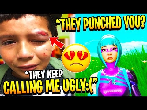 7 Year Old Got *BULLIED* & LOST HIS ONLY FRIEND, So I Did This... (Fortnite)