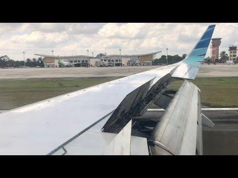Perfect Landing At Sultan Syarief Kasim II Pekanbaru - GA 174 Boeing 737