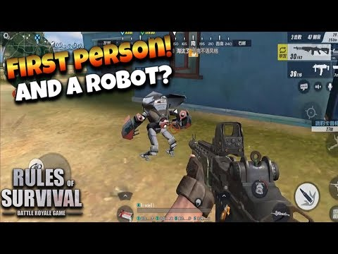 FIRST PERSON MODE! Rules of Survival Gameplay
