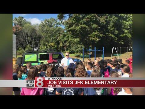 Storm Team 8's Joe Furey visits JFK Elementary School in Milford - Dauer: 31 Sekunden