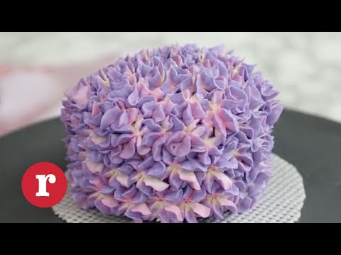 You Need To See The Trick To Creating This Stunning Hydrangea Cake! | Redbook
