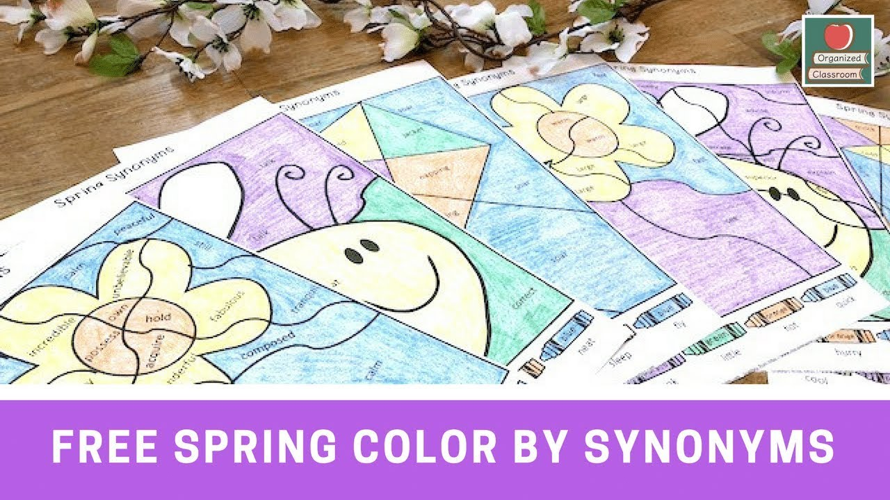 Spring Synonyms Worksheets! - YouTube