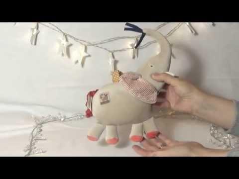Moulin Roty Les Papoum Musical Elephant