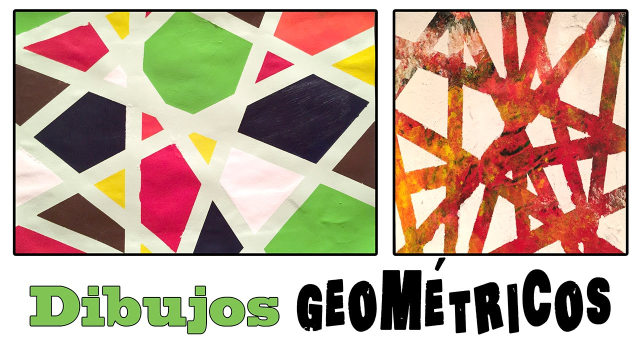 Cuadro abstracto geom trico dibujo para ni os youtube - Cuadros abstractos para ninos ...