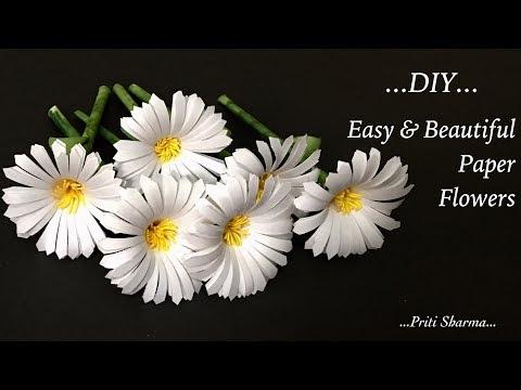 DIY : Paper Flower Sticks / Easy And Beautiful Paper Flowers Tutorial | Priti Sharma