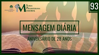 Mensagem Diária - Felicitações 28 anos