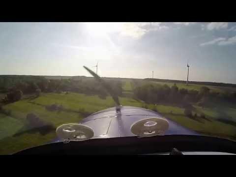 Airplane ride over Estonia