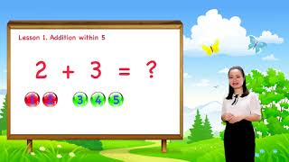Math For Kids - Lesson 1. Addition within 5   1st Grade