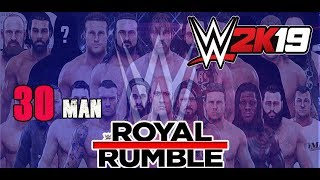WWE 2k19 | 30 Man Royal Rumble | ps4 gameplay