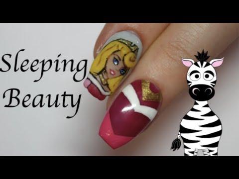 3D Aurora Acrylic Nail Art Tutorial | The Sleeping Beauty | Disney Princess Series | MelodyMinutes thumbnail