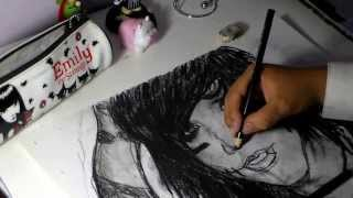 Drawing Andy Biersack (teenager)