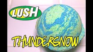LUSH THUNDERSNOW Bath Bomb ⚡❄ Christmas 2017 DEMO & REVIEW Underwater View