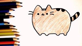 Как нарисовать кота Pusheen. How to draw a cat Pusheen(Если Вам понравилось видео, подписывайтесь на мой канал: ..., 2016-08-03T12:13:17.000Z)
