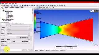 Ansys WorkBench - Fluent C-D Nozzle tutorial