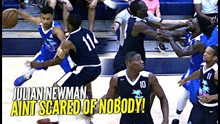Julian Newman vs TRASH TALKING GROWN MEN GETS HEATED!! Puts On a SHOW w/ Michael Beasley!