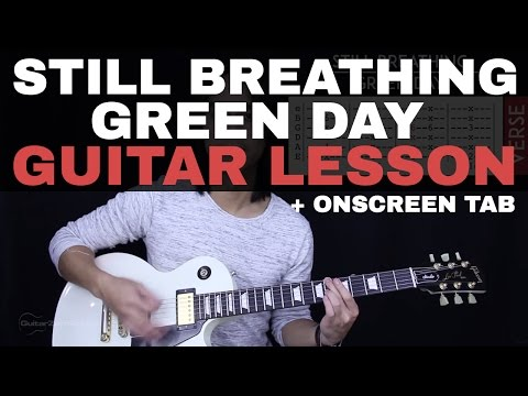 Still Breathing Guitar Tutorial - Green Day Guitar Lesson |Tabs + Chords + Guitar Cover|