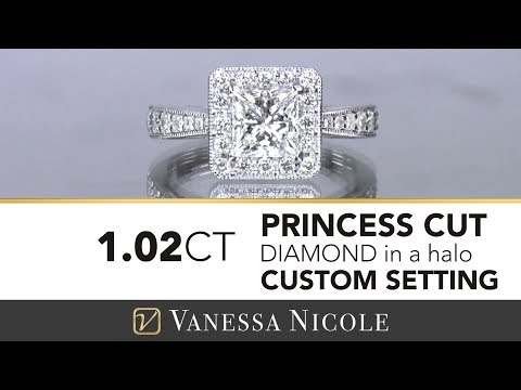 PRINCESS CUT DIAMOND HALO ENGAGEMENT RING 2018