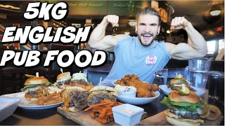 MASSIVE ENGLISH PUB FOOD CHALLENGE! British-Style Fish & Chips | Huge Body Builder Cheat Meal!