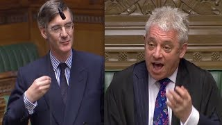 BERCOW BREXIT: Speaker TELLS OFF Rees-Mogg for mobile phone use, JRM apologises being UNDULY MODERN