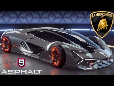 Asphalt 9 Legends Lamborghini (Centenario,Asterion,Huracan,Aventador SV+J,Egoista,Terzo Millennio)
