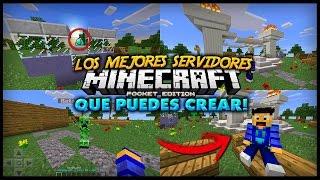 Gambar cover Los MEJORES SERVIDORES que puedes CREAR para Minecraft PE! - Plugins, Mods, Minijuegos & Más!