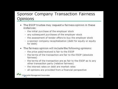 CTI QuickTip - Differences Between ESOP Fair Market Valuations and Transaction Fairness Opinions