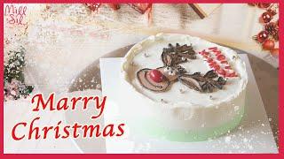 케이크 위에 그림 그리기 팁 공개! 크리스마스 레터링 …