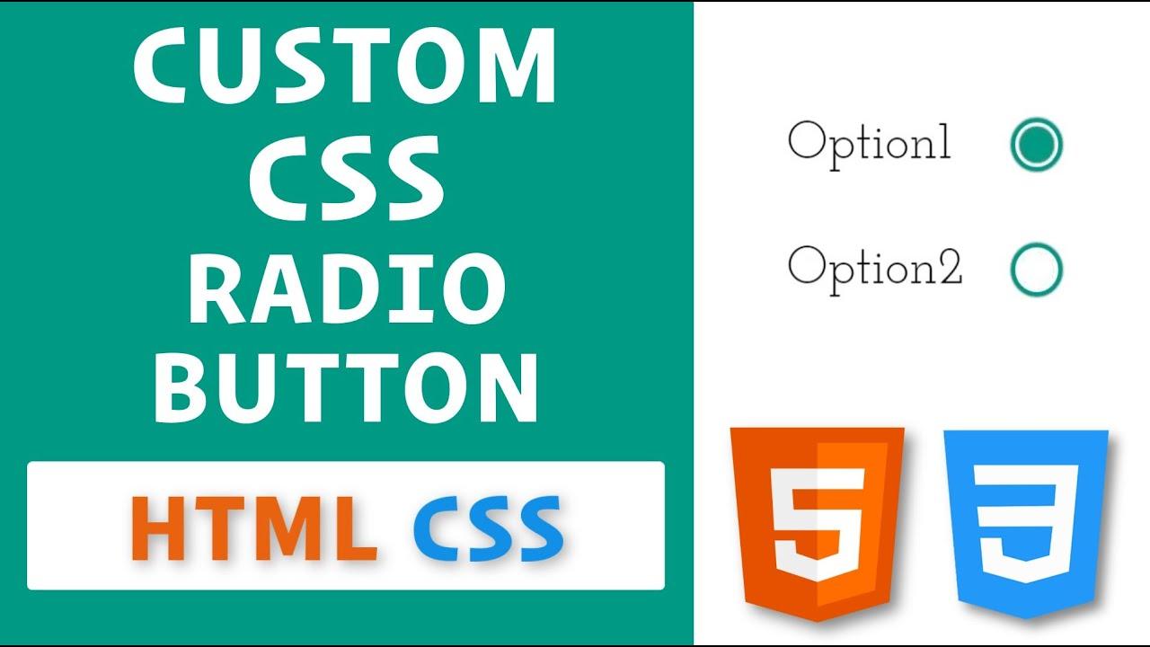 Custom CSS Radio Button