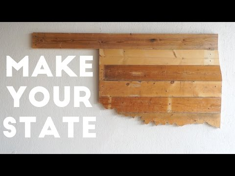 MAKE YOUR STATE From Reclaimed Wood | Modern Builds | EP. 13