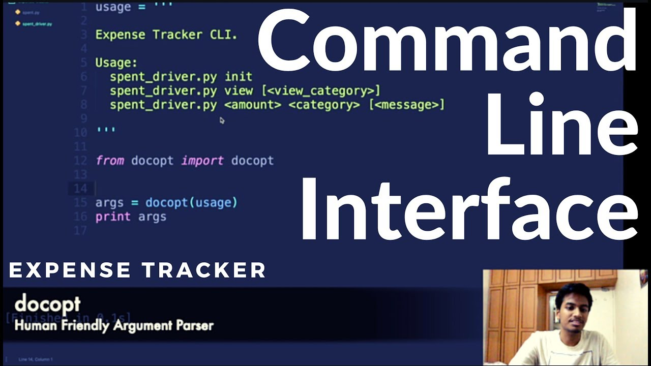 Designing Awesome Command Line Interfaces Easily | Docopt | Python |  Expense Tracker