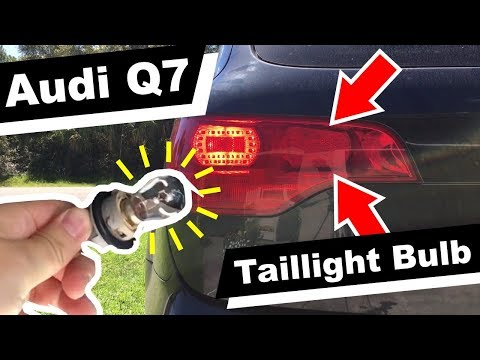 How to replace Audi Q7 Taillight Bulb change DIY rear light Replacement 2007 Model