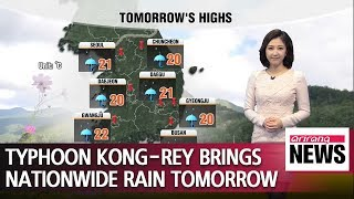 Typhoon Kong-Rey brings nationwide rain tomorrow _ 100418