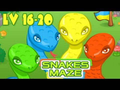Snakes Maze Walkthrough Level 16-20 (Html5)