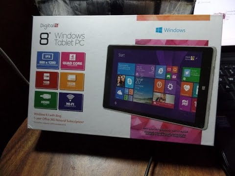 Digital2 Windows 8 Tablet D2-80W How To Reset!