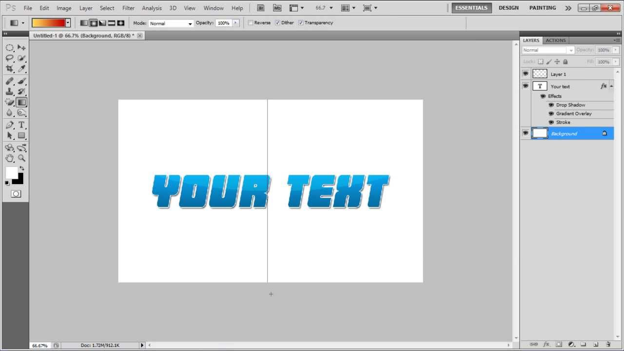 how to create glossy text in photoshop