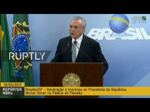 LIVE: Temer gives statement after Brazil's Supreme Court approves bribery investigation